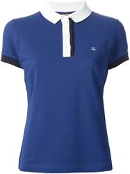 Fay Contrasting Collar Polo Shirt
