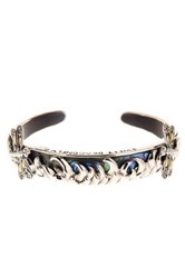 Phillip Gavriel 18K Yellow Gold And Sterling Silver Dragonfly Abalone Paua Shell Cuff Bracelet Metallic