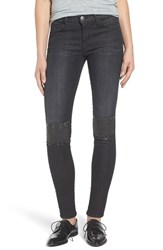 Current Elliott Women's The Stiletto Studded Patch Skinny Jeans
