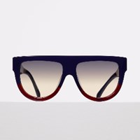 Celine Shadow Sunglasses In Navy And Burgundy