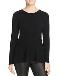 Bloomingdale's C By Peplum Cashmere Sweater Black