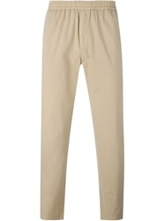 Msgm Elastic Waistband Trousers Nude And Neutrals