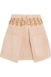Chloe Embellished Suede Mini Skirt