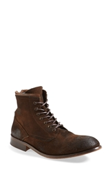Hudson 'Railton' Suede Boot Men Brown