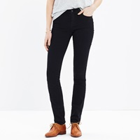 Madewell Tall Alley Straight Jeans In Black Frost