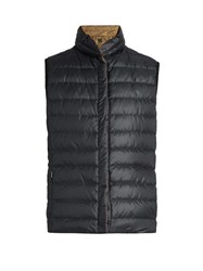 Max Mara Osaka Reversible Gilet Brown Navy