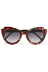 Preen Knightsbridge Cat Eye Acetate Sunglasses Red
