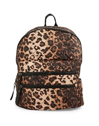 Steve Madden Diamond Quilted Backpack Leopard