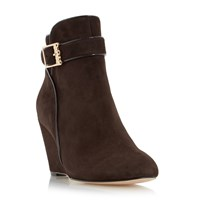 Biba Olivier Wedge Ankle Boots Brown