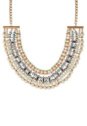 Miss Selfridge Necklace Pastel Gold