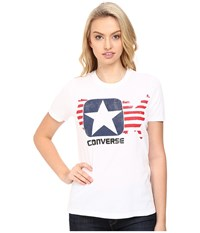 Converse Archive Box Star Crew Short Sleeve Tee White Women's T Shirt