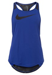 Nike Performance Flow Sports Shirt Deep Royal Black Black Blue