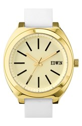 Women's Edwin 'Era' Leather Strap Watch 40Mm