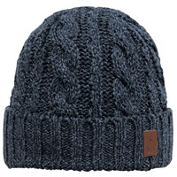 Barts Twister Turnup Beanie One Size Navy