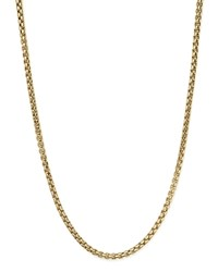 Bloomingdale's Box Link Necklace In 14K Yellow Gold 20