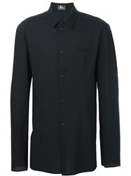 Lost And Found Ria Dunn Fitted Button Down Shirt Black