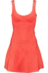 Herve Leger Bandage Mini Dress Bright Orange