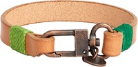 Caputo And Co Cord Wrapped Leather Bracelet Nude