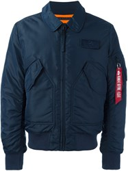 Alpha Industries Padded Bomber Jacket Blue