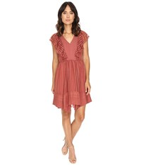 Adelyn Rae Chiffon Fit And Flare Dress Dusty Rose Women's Dress Pink