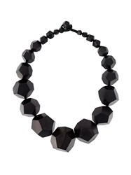 Monies Geometric Necklace Black