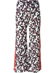 Nafsika Skourti Camouflage Print Flared Trousers Brown