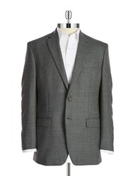 Lauren Ralph Lauren Two Button Wool Blazer Grey