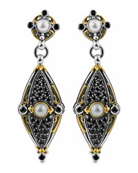 Konstantino 18K And Sterling Silver Spinel And Pearl Dangle Earrings