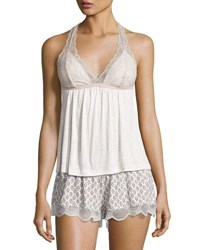 Eberjey Georgette Lace Trimmed Cami Multi