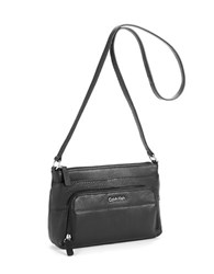 Calvin Klein Pebbled Leather Shoulder Bag Black