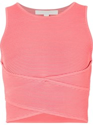 Jonathan Simkhai Criss Cross Tank Pink And Purple