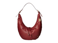 Frye Belle Bohemian Hobo Wine Oiled Vintage Full Grain Hobo Handbags Brown