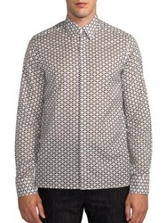 Fendi Monster Eye Print Sportshirt Cement