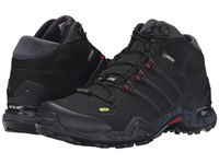Adidas Outdoor Terrex Fast R Mid Gtx Black Dark Grey Power Red Women's Hiking Boots