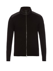 Belstaff Kelby Zip Through Wool Cardigan Black