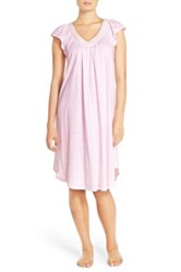 Carole Hochman Midnight By Cotton Robe And Nightgown Set Pink