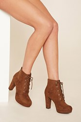 Forever 21 Faux Suede Platform Ankle Boot