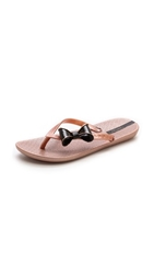 Ipanema Neo Clara Bow Flip Flops Rose Gold Black