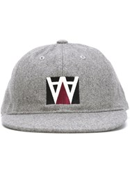 Wood Wood Embroidered Logo Cap Grey