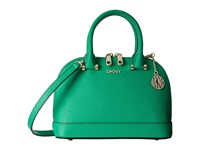 Dkny Bryant Park Saffiano Mini Round Crossbody W Det Shoulder Strap Green Cross Body Handbags