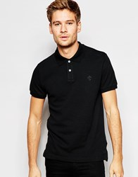Esprit Pique Polo Shirt In Slim Fit Black