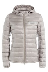 Closed Peak Down Jacket Grey