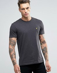 Lyle And Scott T Shirt Eagle Logo In Charcoal Marl Charcoal Marl Grey