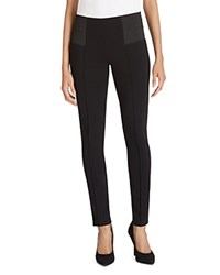 Lafayette 148 New York Pintuck Skinny Pants Black