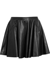Chalayan Leather Skater Skirt Black