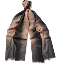 Paul Smith Dip Dyed Cashmere Scarf Blue