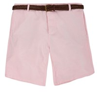 River Island Mens Light Pink Belted Chino Shorts