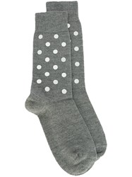 N 21 No21 Dotted Print Socks Grey