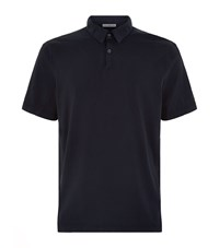 James Perse Sueded Jersey Polo Shirt Male Navy