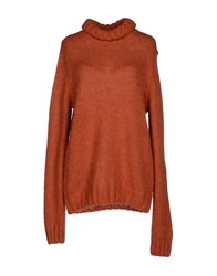 Kaos Knitwear Turtlenecks Women Rust